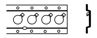 Listwa do mocowania ładunku pasująca do drążków rozporowych