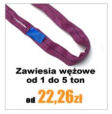 Zawiesia wężowe cena od 22 zł