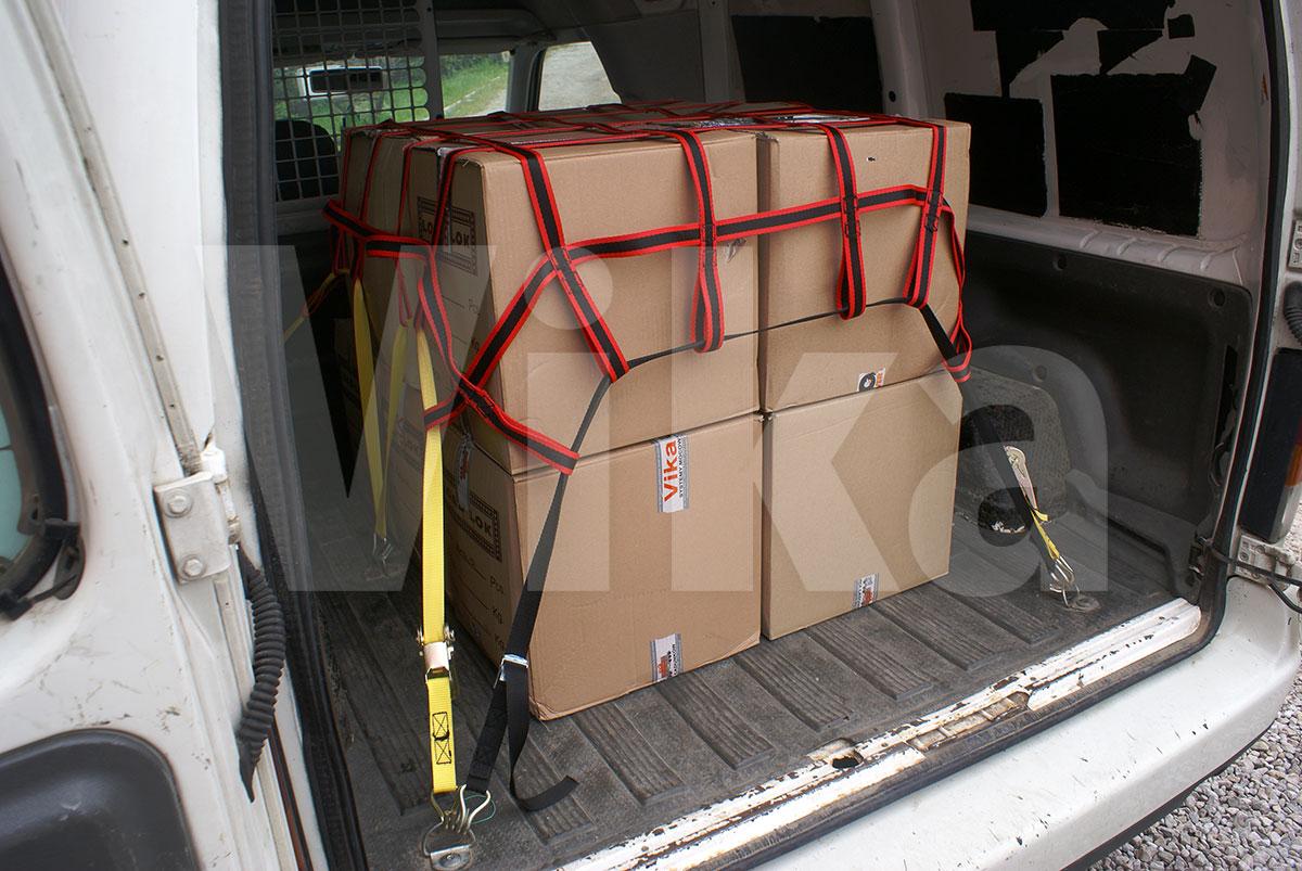 Poziome zabezpieczenie ładunku w transporcie